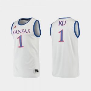 For Men's #1 KU Jersey Basketball Swingman Gray 819350-266