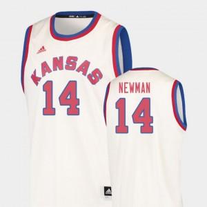 College Basketball Malik Newman KU Jersey Cream Mens Hardwood Classics #14 881272-683