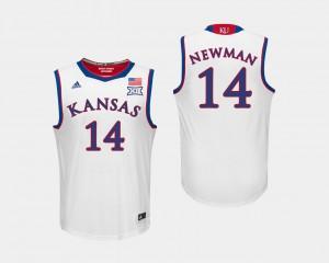 Men's College Basketball Malik Newman KU Jersey White #14 250070-560