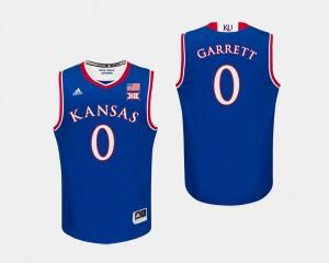For Men's College Basketball Marcus Garrett KU Jersey #0 Royal 606626-926