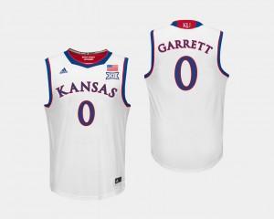 White Marcus Garrett KU Jersey College Basketball Men #0 270403-499