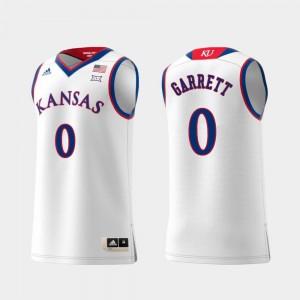For Men's Replica #0 White Swingman College Basketball Marcus Garrett KU Jersey 378075-190