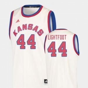 College Basketball Men's Mitch Lightfoot KU Jersey #44 Cream Hardwood Classics 956468-900