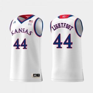 For Men #44 Mitch Lightfoot KU Jersey White Replica Swingman College Basketball 674389-167