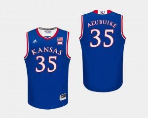 #35 Udoka Azubuike KU Jersey Royal College Basketball For Men's 155461-345