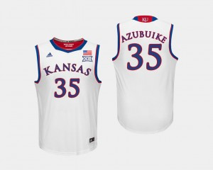 For Men's College Basketball #35 Udoka Azubuike KU Jersey White 565873-663