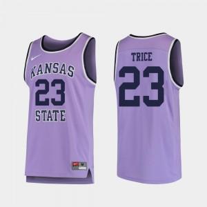 College Basketball Purple Mens Austin Trice KSU Jersey Replica #23 973130-813
