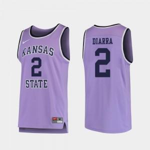 Replica College Basketball For Men's #2 Cartier Diarra KSU Jersey Purple 835801-456