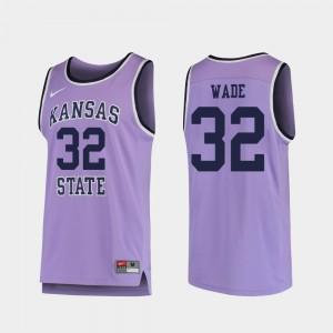 For Men's College Basketball Dean Wade KSU Jersey Purple Replica #32 605033-547