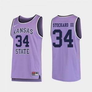Levi Stockard III KSU Jersey Purple #34 Replica College Basketball For Men 467737-848