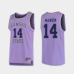 Makol Mawien KSU Jersey Replica #14 College Basketball Mens Purple 376198-716