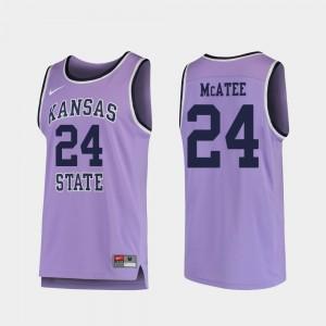 Men's Purple Pierson McAtee KSU Jersey Replica College Basketball #24 588185-601