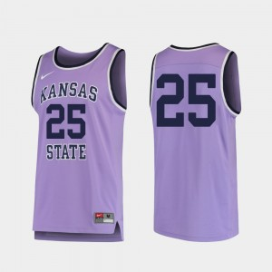 #25 Purple Replica College Basketball KSU Jersey Men's 139611-234