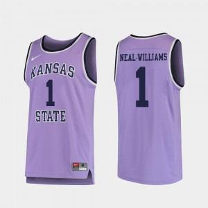 College Basketball Replica For Men's Purple #1 Shaun Neal-Williams KSU Jersey 839385-319