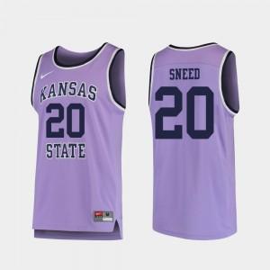 Replica Xavier Sneed KSU Jersey #20 For Men Purple College Basketball 868517-392