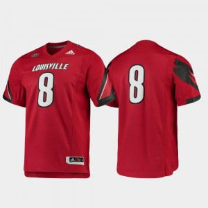 Louisville Jersey Football #8 Premier Red For Men 813377-619