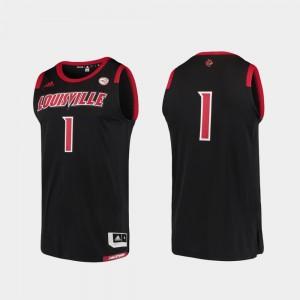 College Replica Mens Louisville Jersey Black #1 Basketball Swingman 838255-871