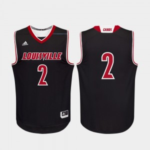 College Basketball #2 Replica For Men Black Louisville Jersey 299020-385