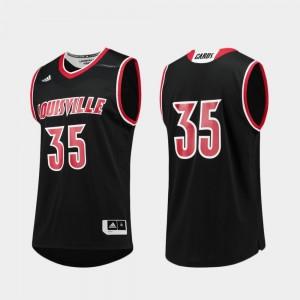 Louisville Jersey Black College Basketball #35 Men Replica 124689-217