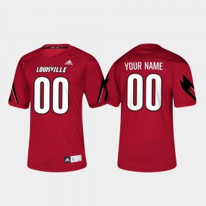 Louisville Custom Jersey College Football For Men's #00 Red 635534-382