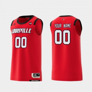 #00 College Basketball Red For Men Louisville Custom Jerseys Replica 803217-819