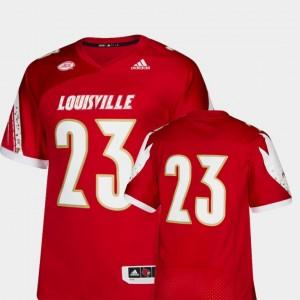 College Football Men's Louisville Jersey Premier Red #23 883252-594
