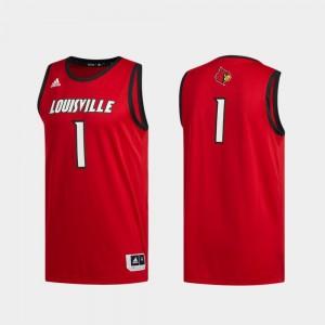 Red Swingman Basketball Louisville Jersey Basketball Swingman Mens #1 873371-192