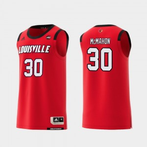 College Basketball Red Men Ryan McMahon Louisville Jersey Replica #30 139196-430