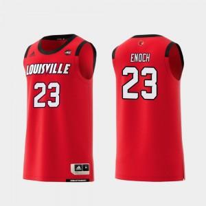 Red Steven Enoch Louisville Jersey #23 Replica College Basketball For Men 582655-557