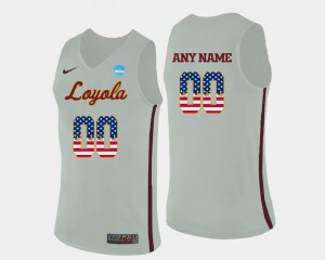 White US Flag Fashion Basketball Men Loyola Customized Jerseys #00 355751-282
