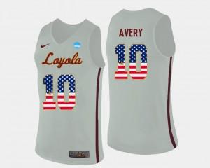 US Flag Fashion #10 White Basketball Adarius Avery Loyola Jersey Men's 365848-233