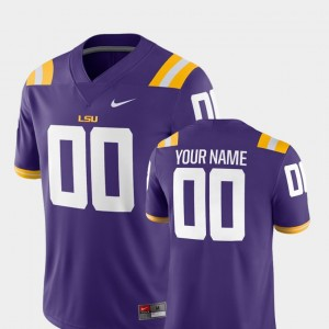 For Men College Football #00 2018 Game Purple LSU Customized Jersey 967210-200