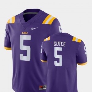 Game Derrius Guice LSU Jersey Purple #5 College Football For Men 850712-862