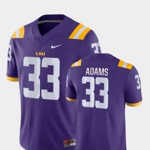 For Men's Game #33 Jamal Adams LSU Jersey Purple College Football 441209-525