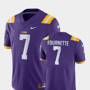#7 College Football Leonard Fournette LSU Jersey Game Purple For Men 419837-599