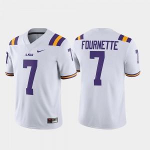 Alumni Player Men Leonard Fournette LSU Jersey Game #7 White 837076-348