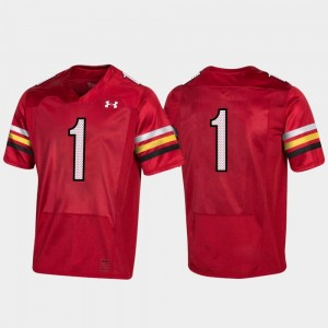 Maryland Jersey 150th Anniversary Red College Football Replica #1 Men 726554-366