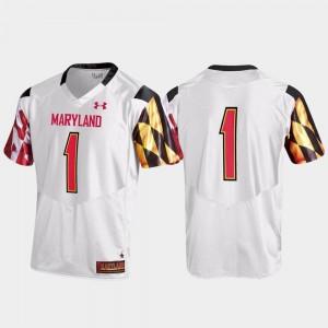 Replica Maryland Jersey Men's #1 White 874009-931