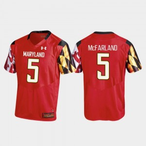 #5 Red Replica Men Anthony McFarland Maryland Jersey College Football 449036-922