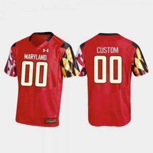 For Men's Replica Maryland Custom Jerseys Red College Football #00 466338-321