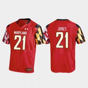 Darryl Jones Maryland Jersey Men's Red Replica #21 College Football 716213-989