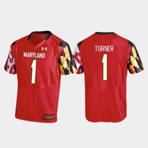 Replica Men's #1 DJ Turner Maryland Jersey Red College Football 948470-238