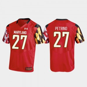 Replica Men #27 College Football Red Joseph Petrino Maryland Jersey 490859-652