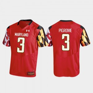 Replica Men Red College Football Tyrrell Pigrome Maryland Jersey #3 494855-509