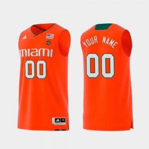 Miami Customized Jersey Swingman College Basketball Replica Orange #00 For Men's 297241-920