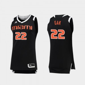 Deng Gak Miami Jersey College Basketball Men's Chase Black White #22 689038-135