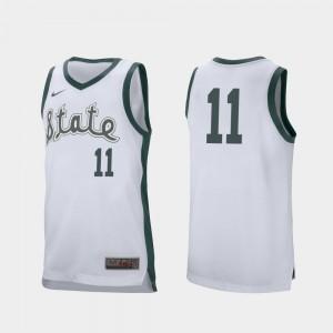 Retro Performance Aaron Henry MSU Jersey College Basketball White #11 Men's 785366-878