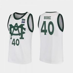 #40 2019 Final-Four Mens Vault MAC Replica Braden Burke MSU Jersey White 168784-591