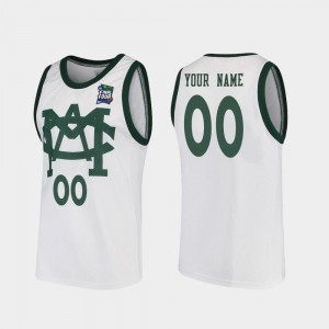 2019 Final-Four #00 White MSU Customized Jersey For Men's Vault MAC Replica 545452-360
