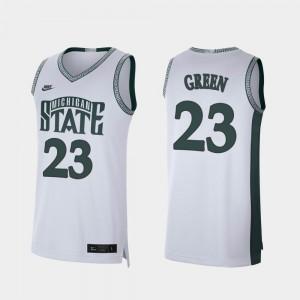 #23 Retro Limited For Men Draymond Green MSU Jersey White College Basketball 209944-178